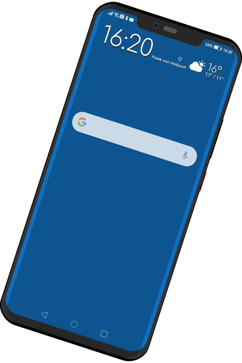 Svg (image) of a Huawei Mate 20 Pro.