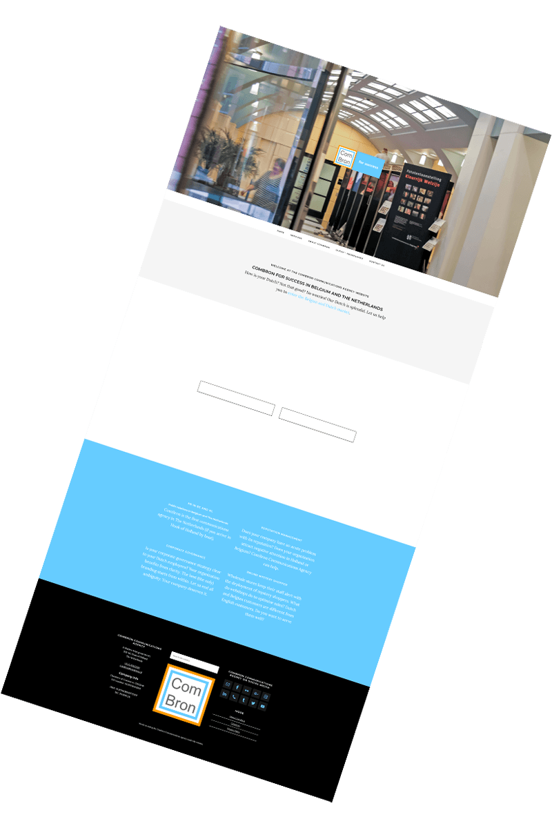 Screendump website translated. You want your website translated to Dutch?